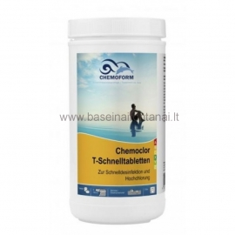 Chloro tabletės greito tirpimo 1 kg, 20 gr