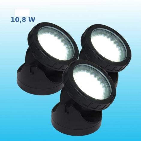 Prožektoriai LED 3x3.6 W, balta