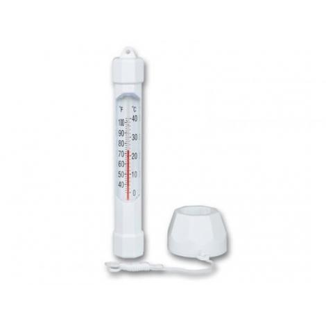 Plūduriuojantis termometras su plūduru