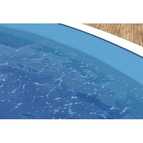 Plėvelė baseinui  0,40 mm apvalus, melsva